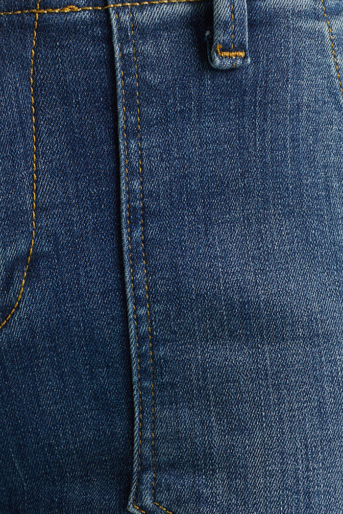 Ankle-length jeans with zips, BLUE MEDIUM WASHED, detail image number 4