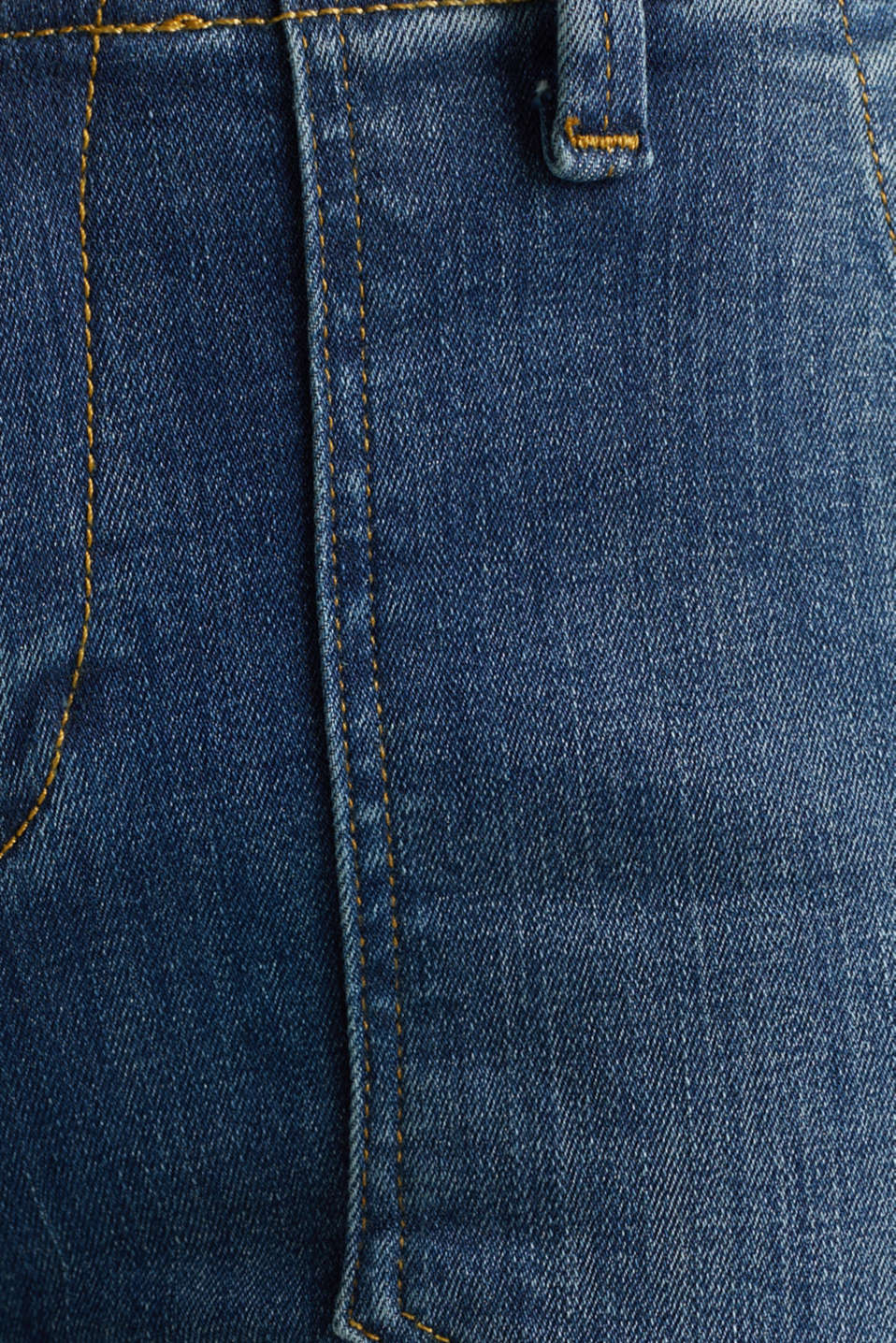 Ankle-length jeans with zips, BLUE MEDIUM WASH, detail image number 4