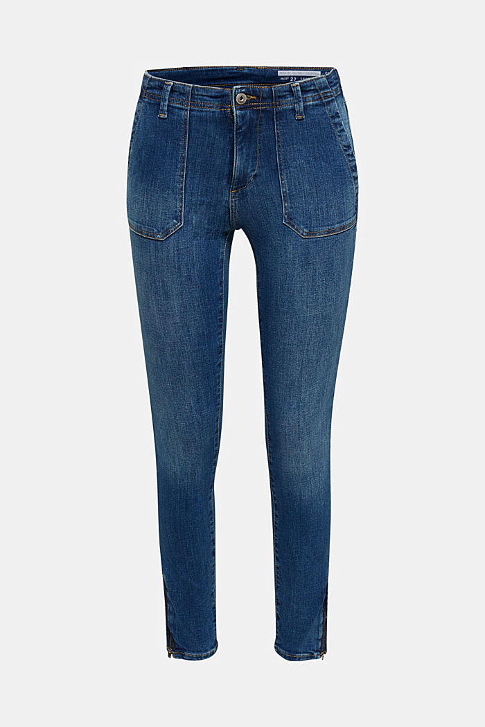 Ankle-length jeans with zips