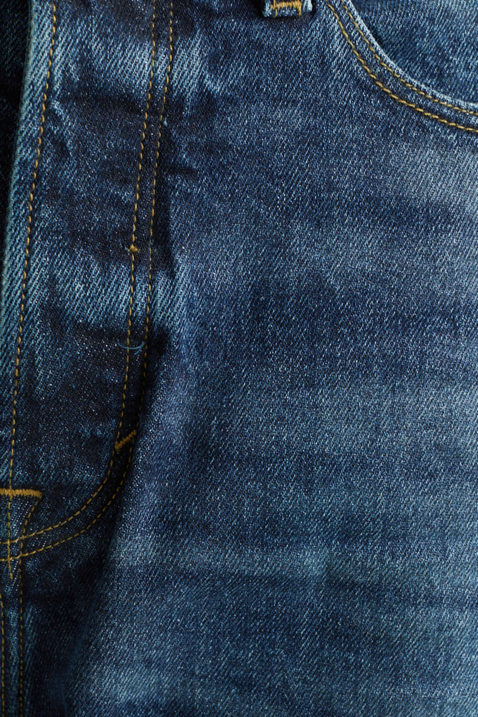 Jeans with a button fly and organic cotton, BLUE DARK WASH, detail image number 4