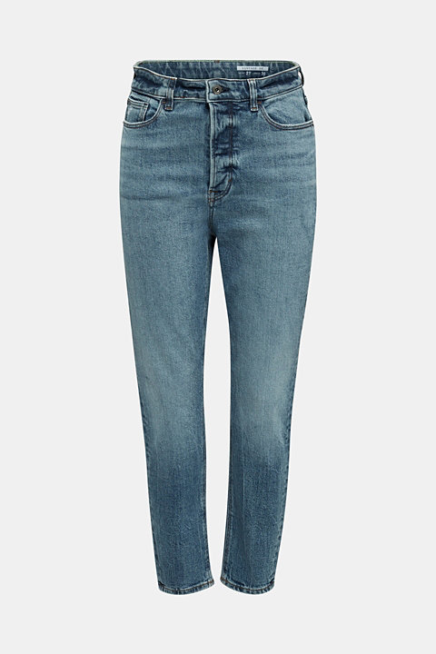 Jeans with a button fly and organic cotton