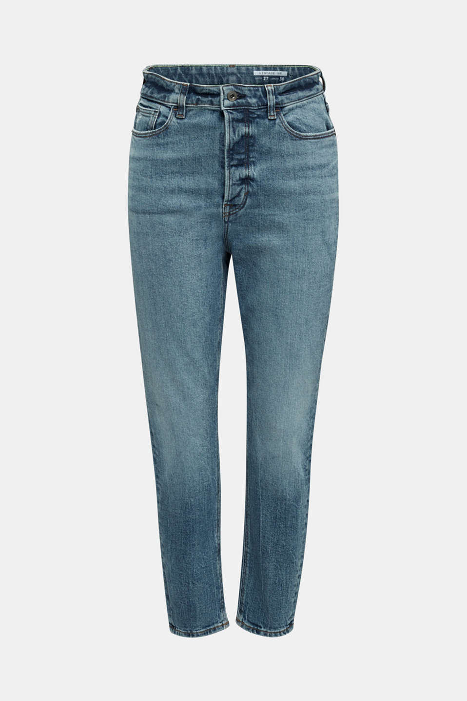 Jeans with a button fly and organic cotton, BLUE MEDIUM WASH, detail image number 7