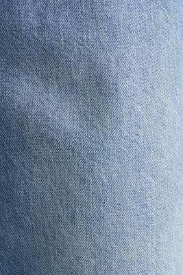 Ankle-length stretch jeans with a wide leg, BLUE LIGHT WASH, detail