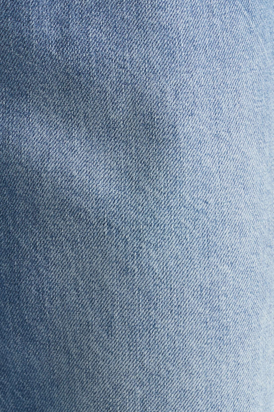 Ankle-length stretch jeans with a wide leg, BLUE LIGHT WASH, detail image number 4