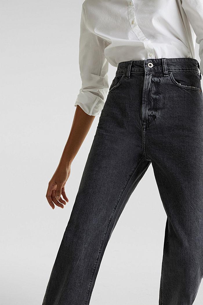 Enkellange jeans met wijde pijpen, BLACK RINSE, detail image number 0