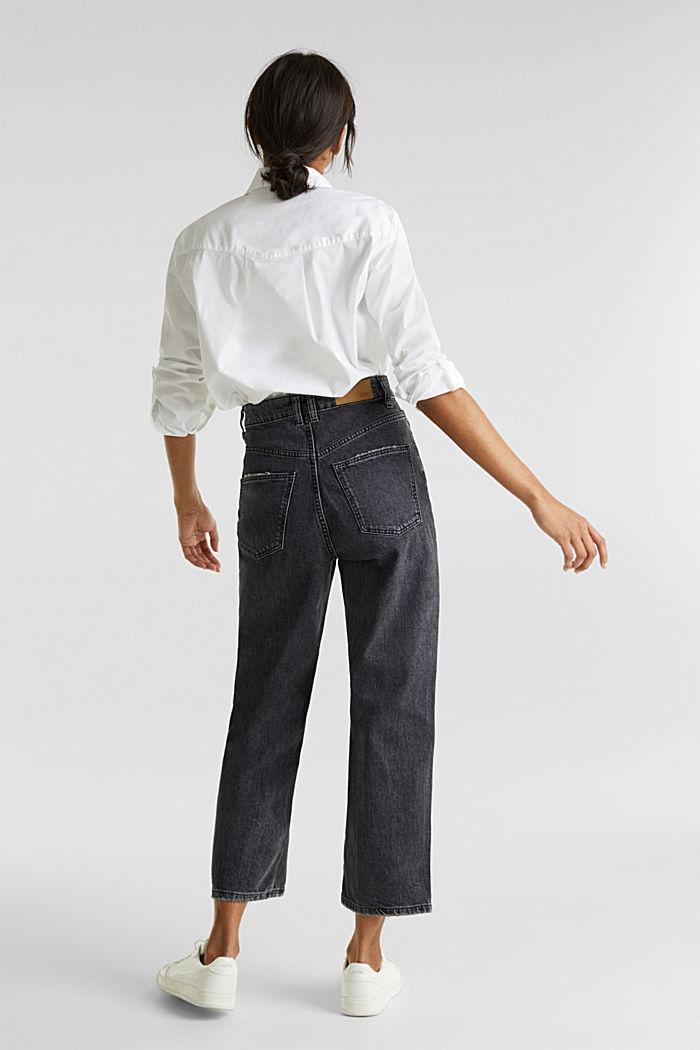 Enkellange jeans met wijde pijpen, BLACK RINSE, detail image number 3