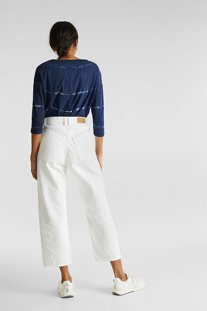 Ankle-length jeans, 100% cotton, WHITE, detail image number 3