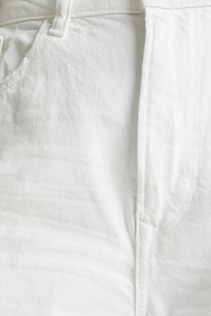 Ankle-length jeans, 100% cotton, WHITE, detail image number 4