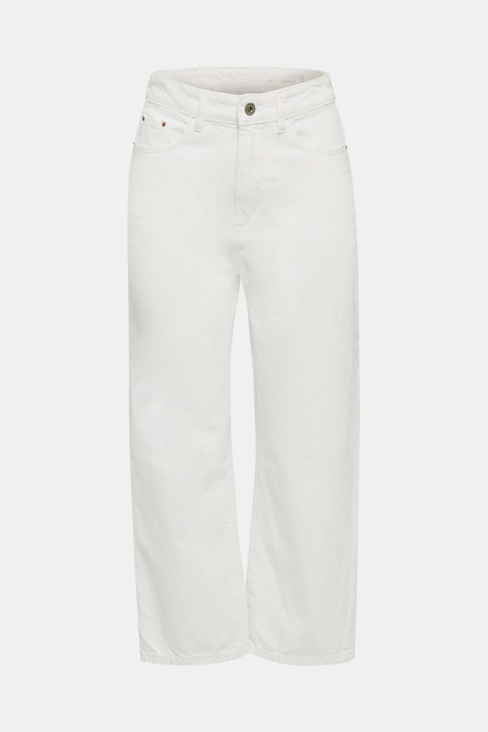 Ankle-length jeans, 100% cotton, WHITE, detail image number 6