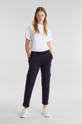 Utility-style tracksuit bottoms, NAVY, detail