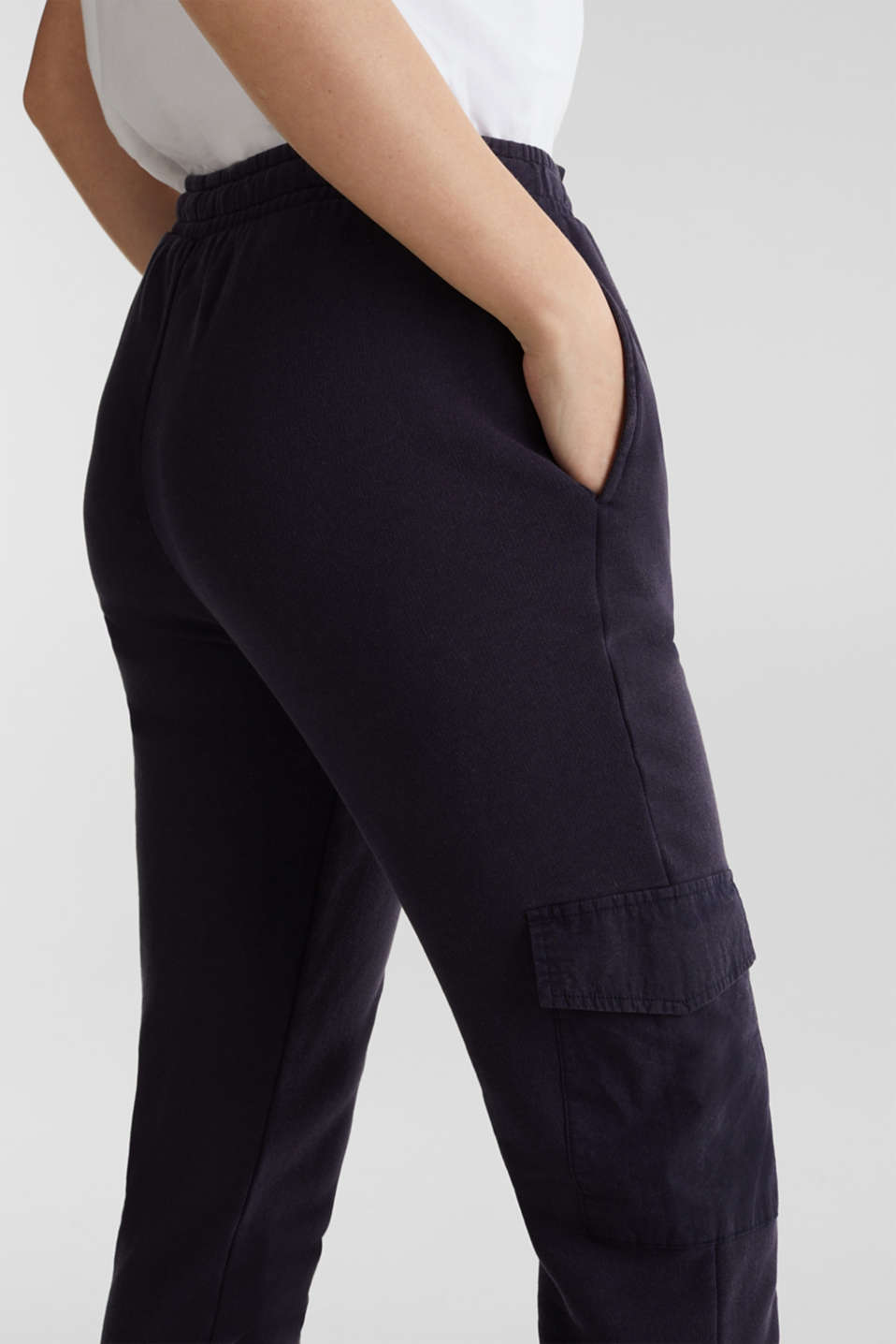 Utility-style tracksuit bottoms, NAVY, detail image number 5