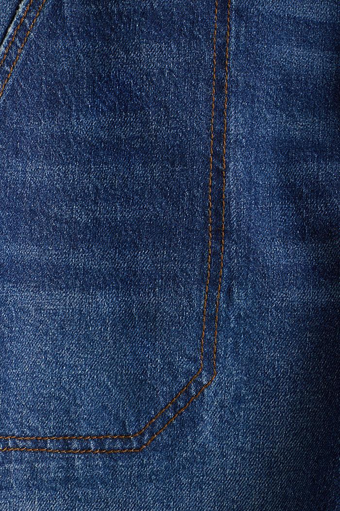 Denim shorts with a belt, BLUE DARK WASHED, detail image number 4