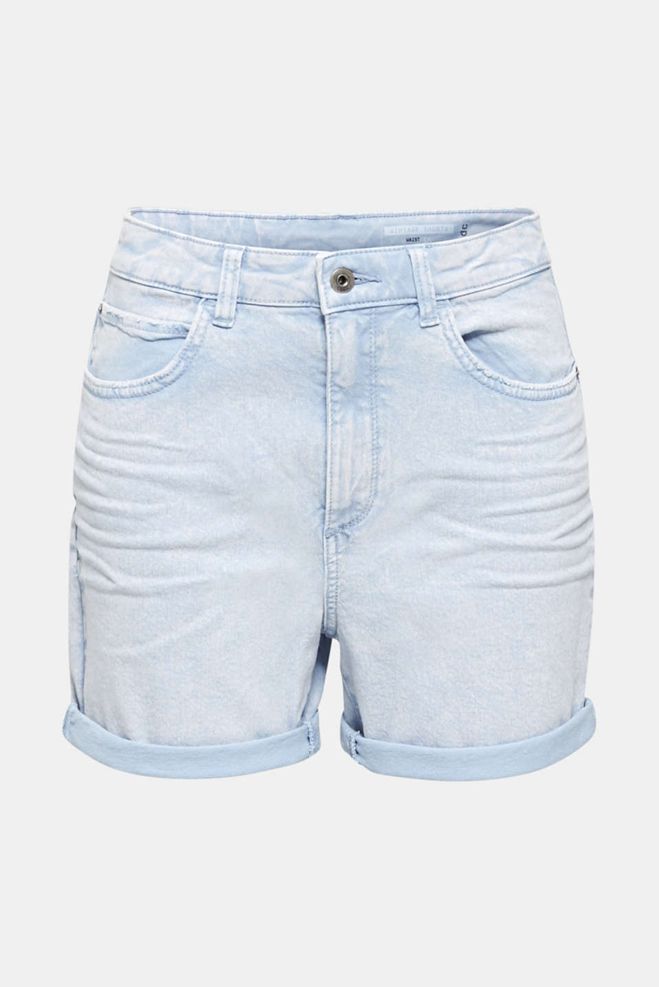 Stretch cotton shorts, BLUE LAVENDER, detail image number 6
