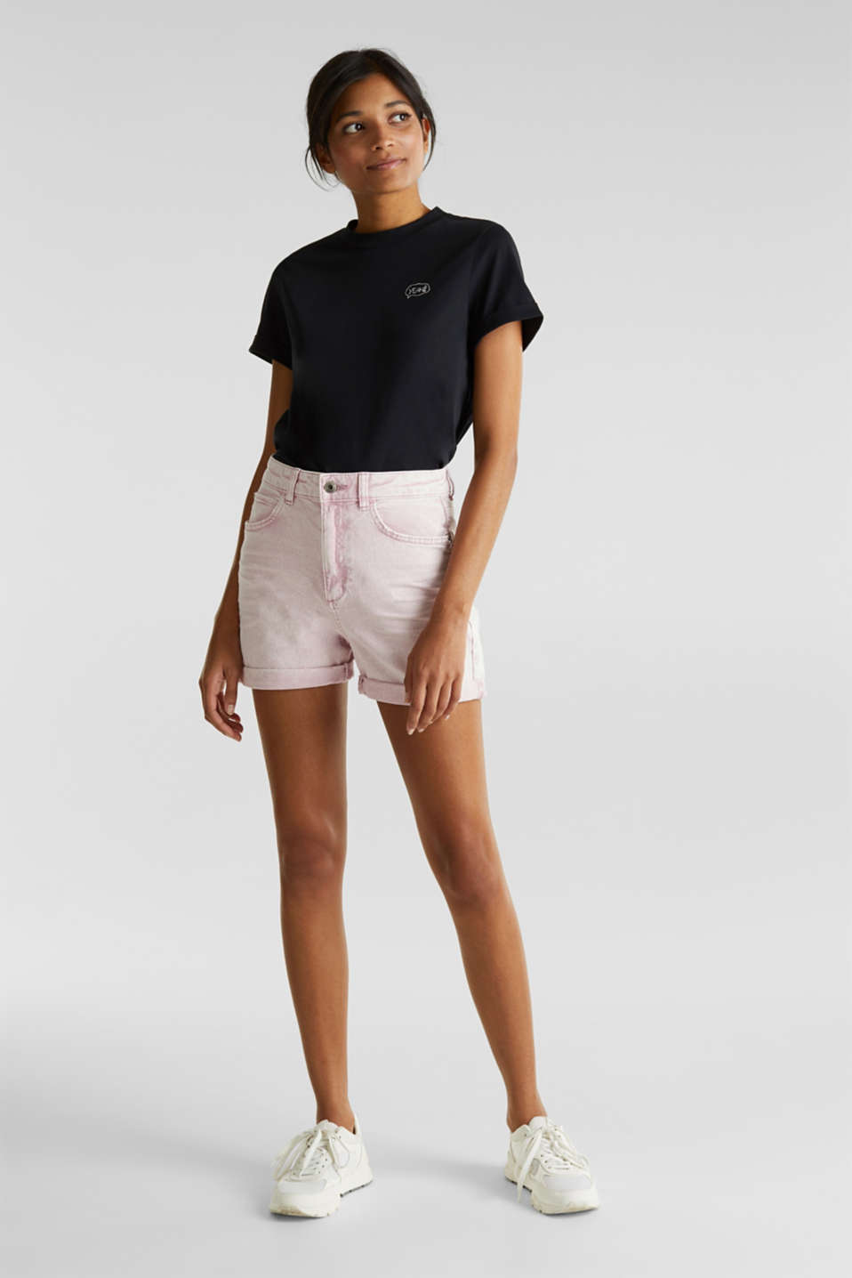 edc - Baumwoll-Stretch-Shorts