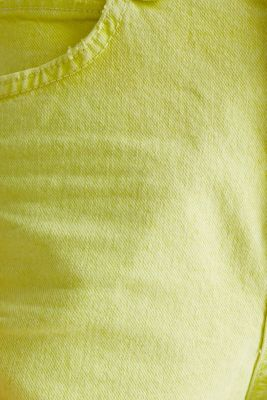 Woven acid-washed shorts, organic cotton, LIME YELLOW, detail