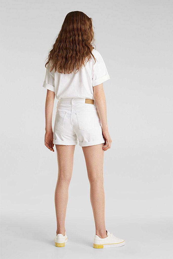 Stretch denim shorts, WHITE, detail image number 3