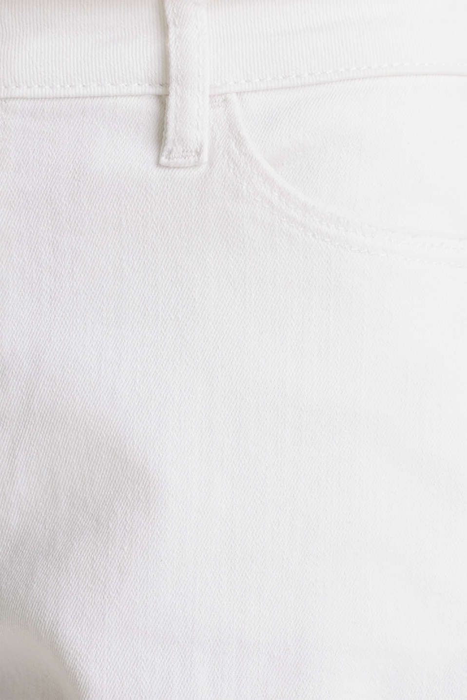 Stretch denim shorts, WHITE, detail image number 4