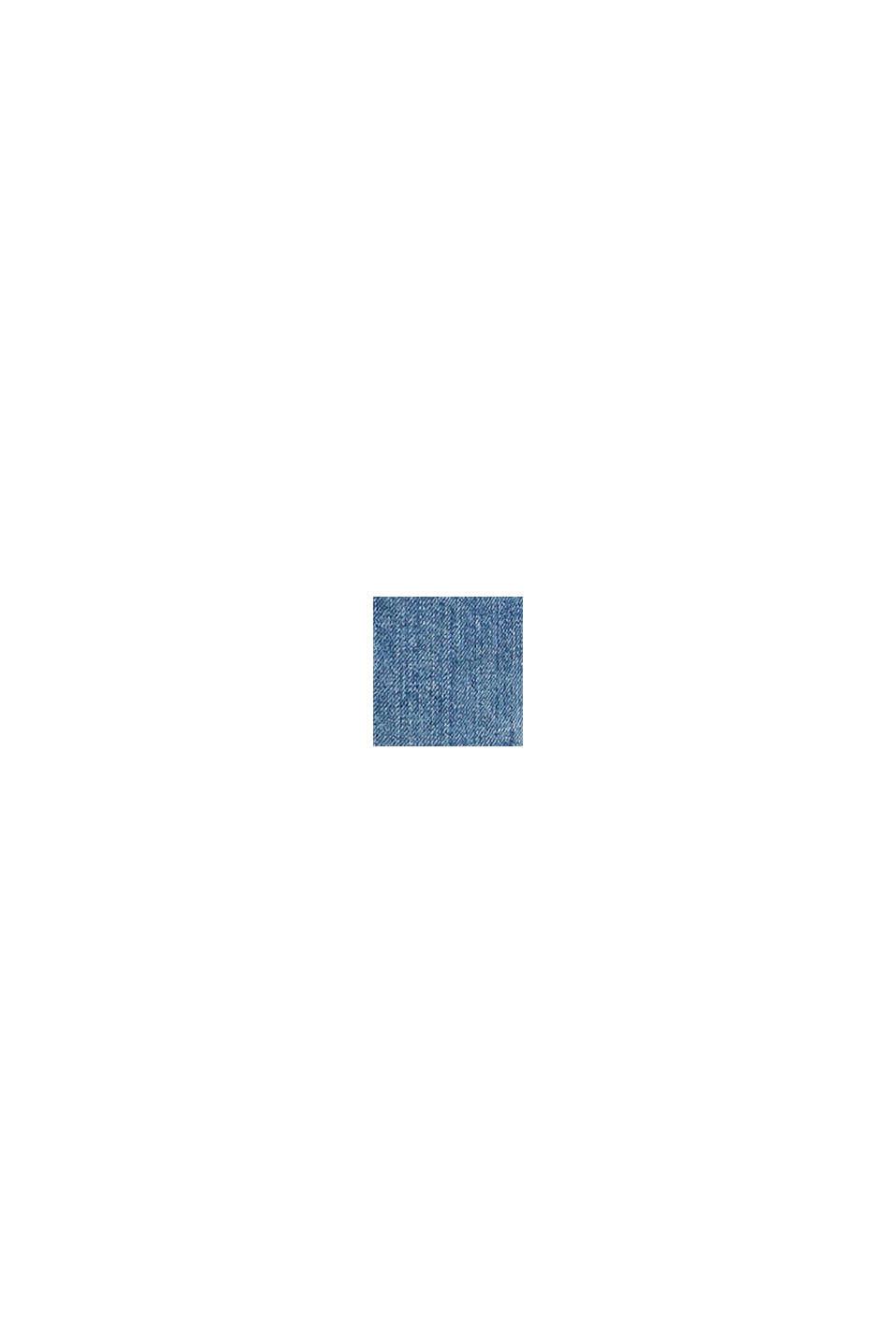 Denim Bermudas with frayed hems, BLUE DARK WASHED, swatch