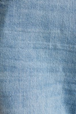 Denim Bermudas with frayed hems, BLUE LIGHT WASH, detail