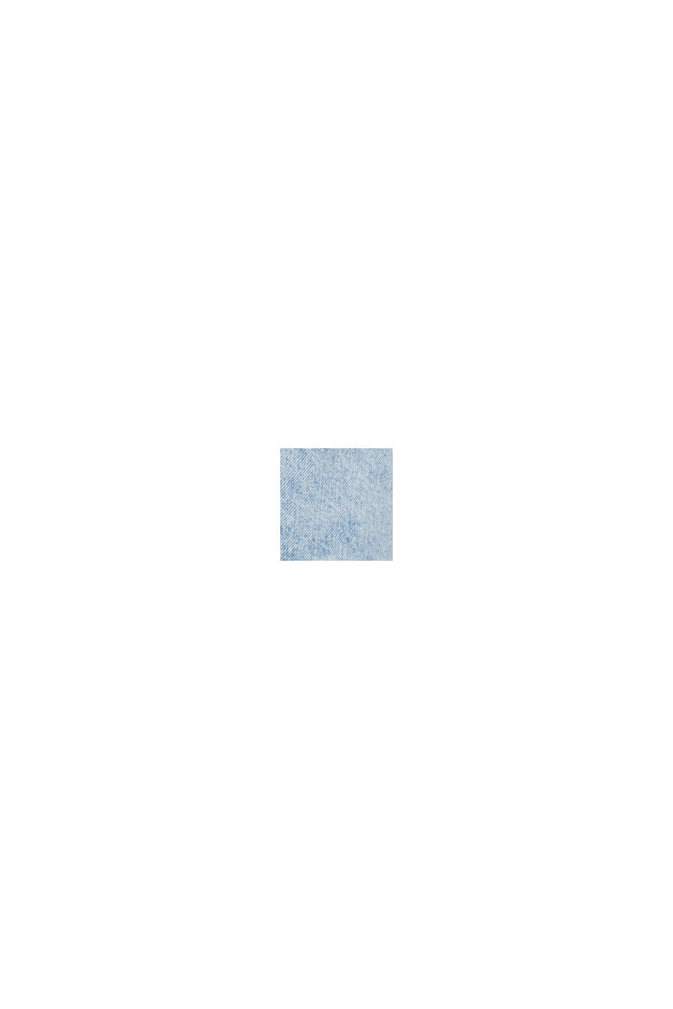 Denim Bermudas with frayed hems, BLUE BLEACHED, swatch