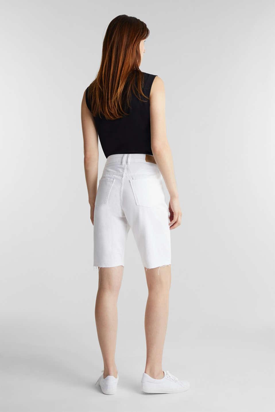 Cotton denim shorts, WHITE, detail image number 3