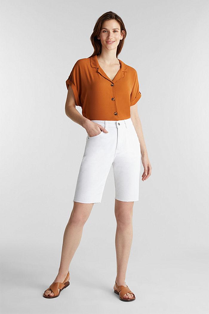 Shorts vaqueros de algodón, WHITE, detail image number 6