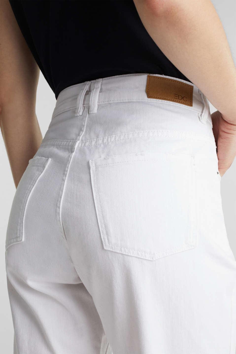 Cotton denim shorts, WHITE, detail image number 2