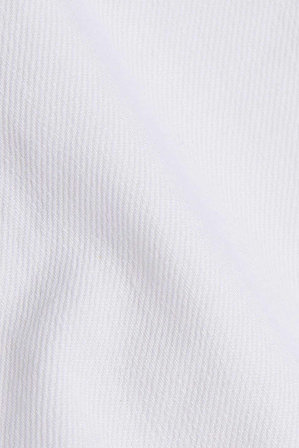 Cotton denim shorts, WHITE, detail image number 4