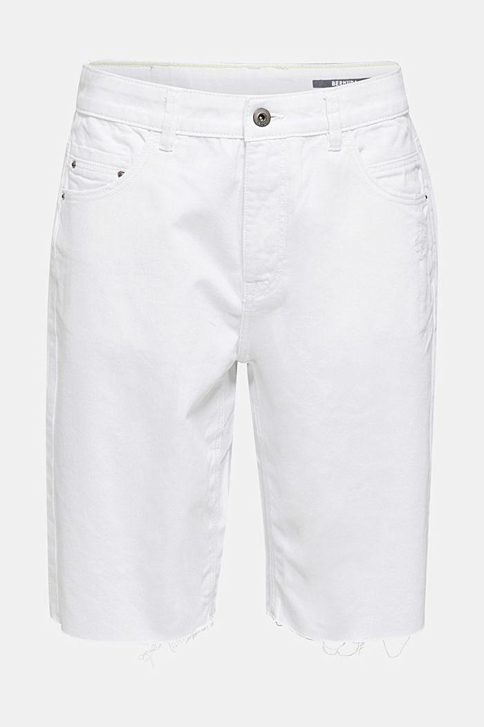 Shorts vaqueros de algodón, WHITE, detail image number 7