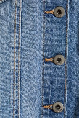 Flared denim skirt with a button placket, BLUE MEDIUM WASH, detail
