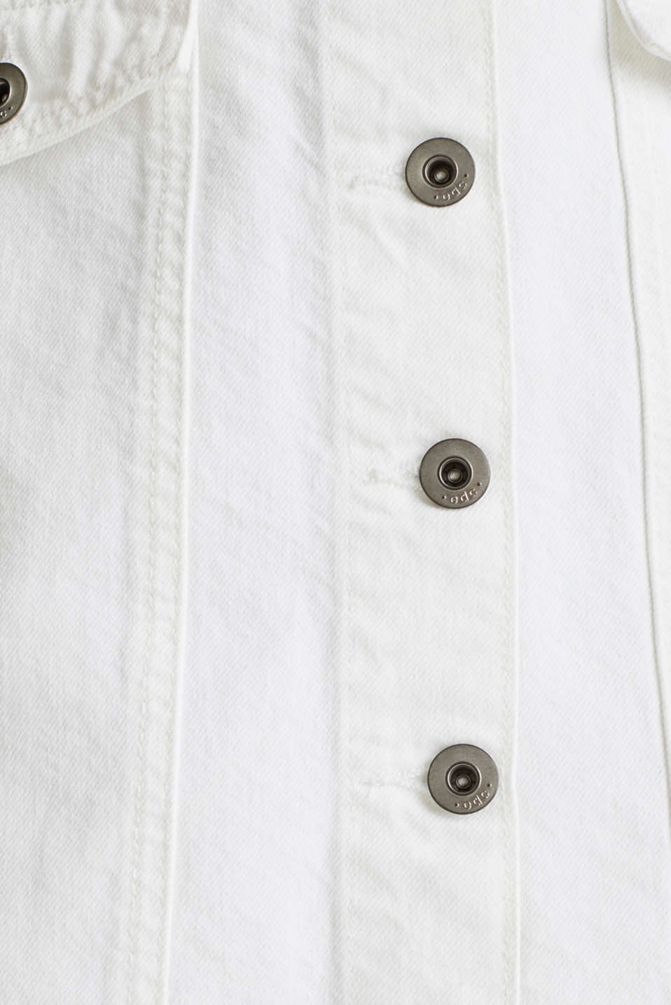 Denim skirt with a button placket, WHITE, detail image number 4