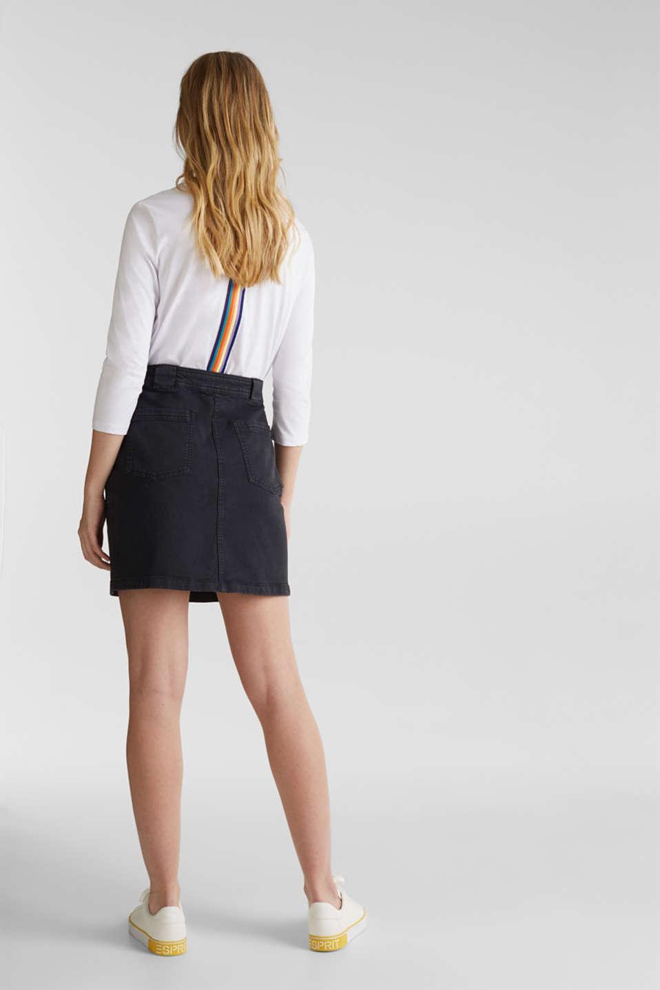 Denim skirt with pockets, BLACK, detail image number 3