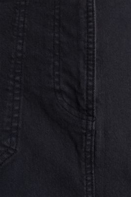 Coloured denim skirt with large front pockets, BLACK, detail