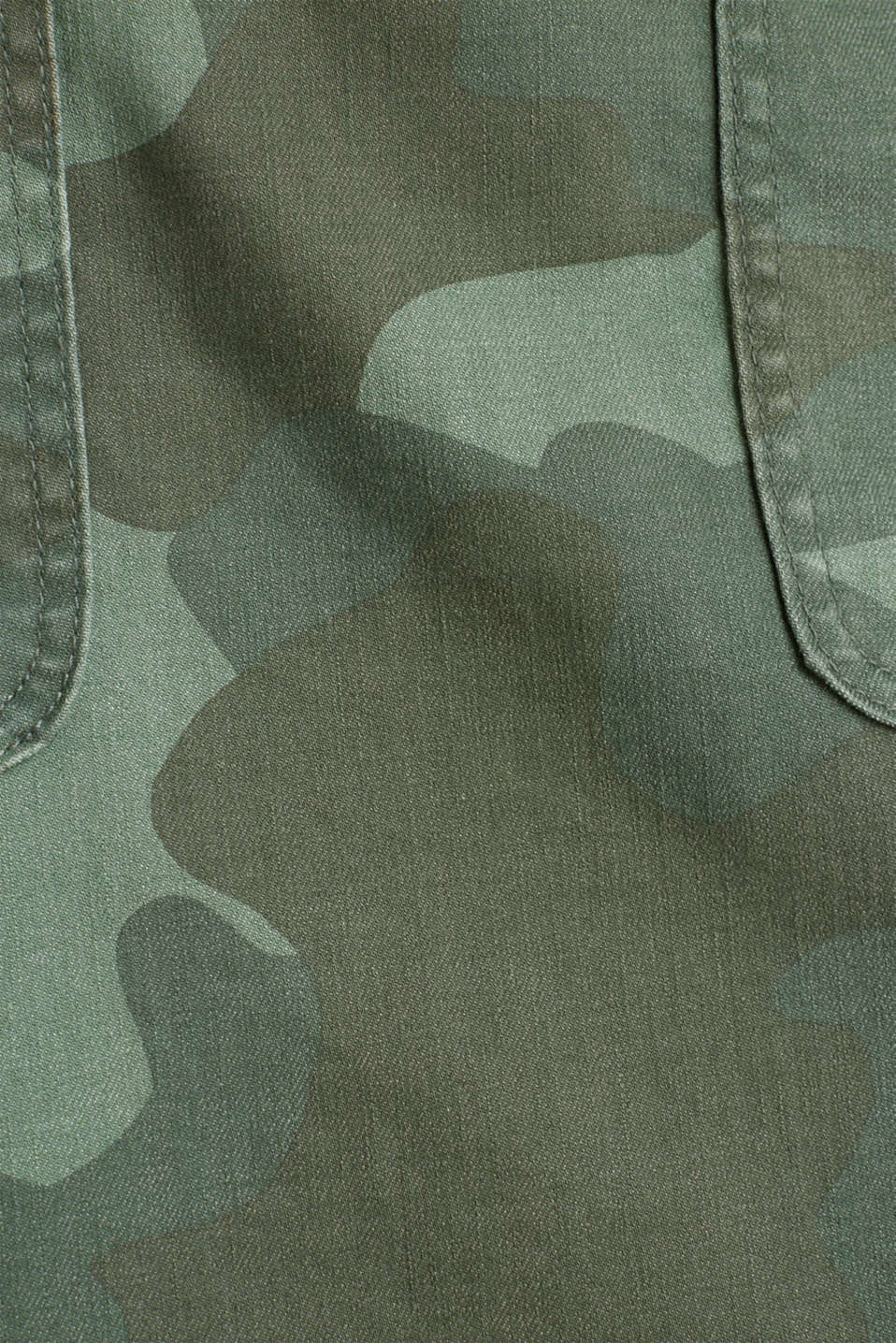 Stretch skirt with camouflage, KHAKI GREEN, detail image number 4