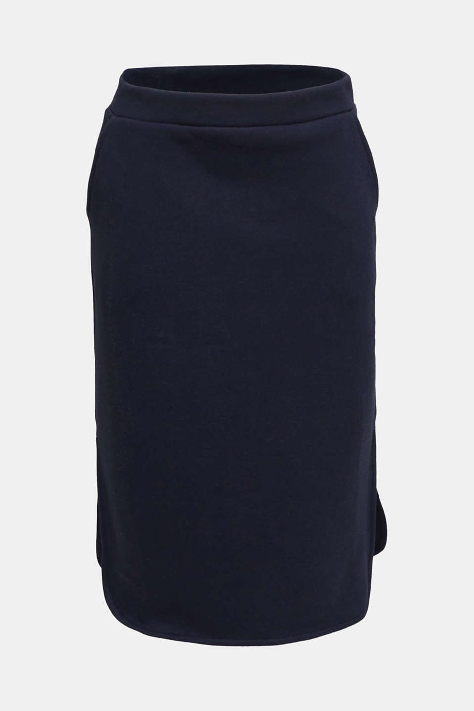 Pencil skirt made of sweatshirt fabric, NAVY, detail image number 7