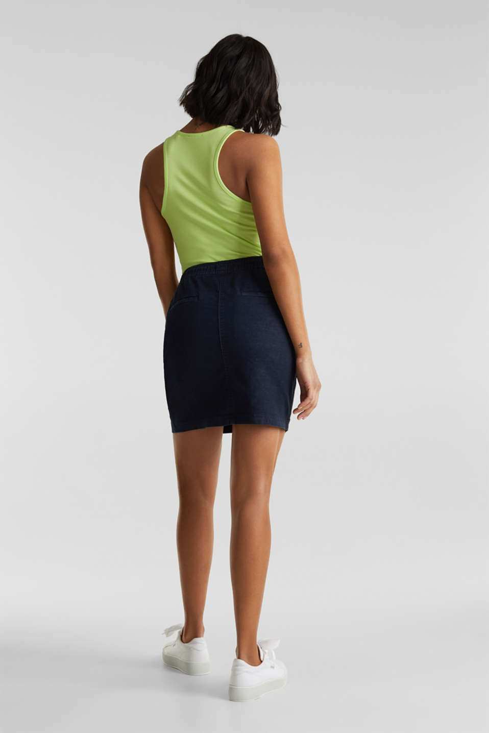 NEON skirt with sporty details, NAVY, detail image number 3