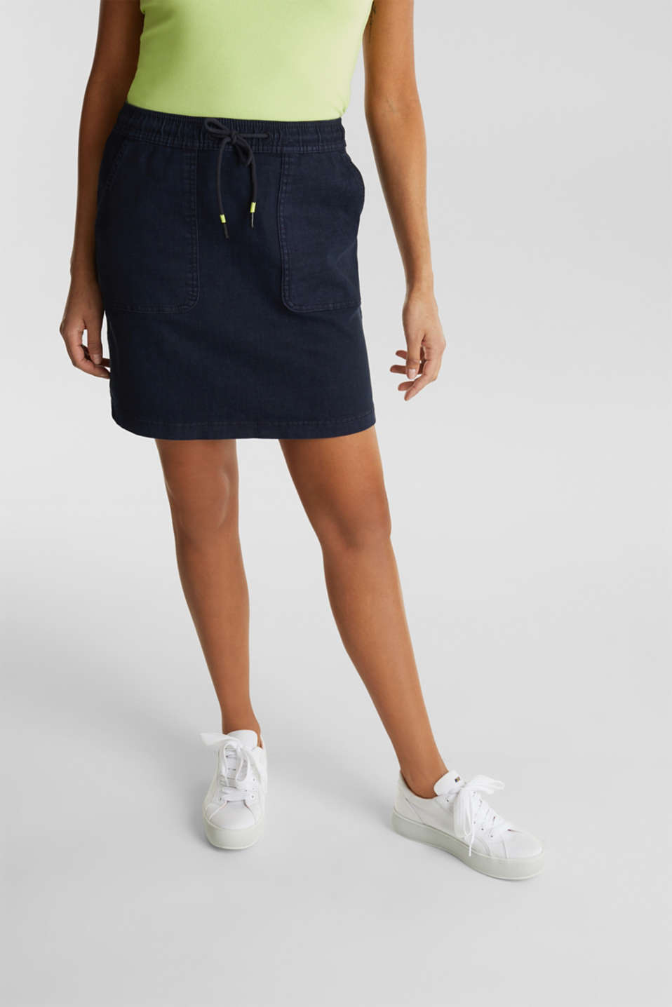 NEON skirt with sporty details, NAVY, detail image number 6