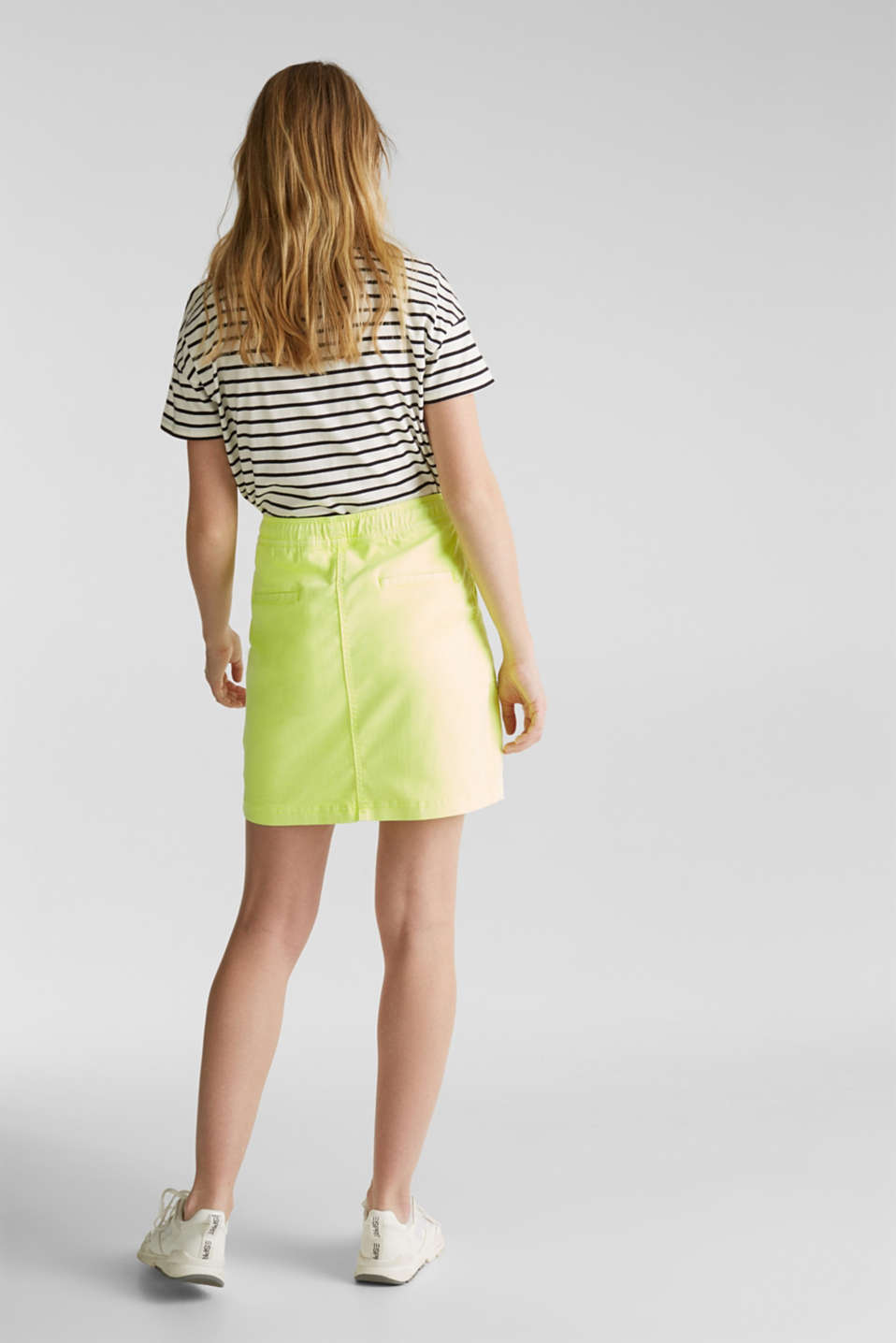 NEON skirt with sporty details, LIME YELLOW, detail image number 3