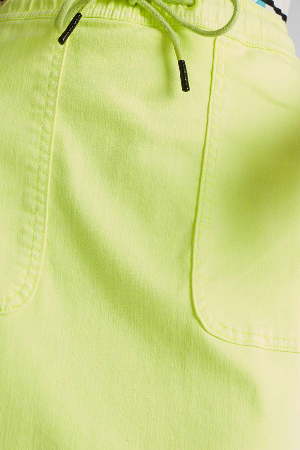 NEON skirt with sporty details, LIME YELLOW, detail image number 4