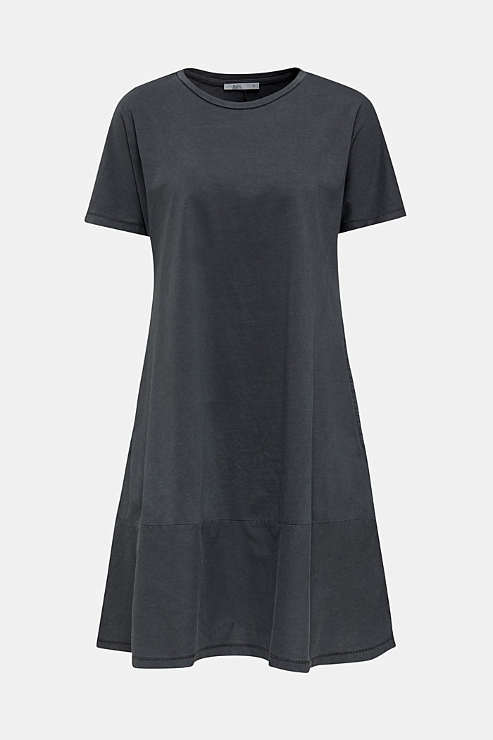 Fabric blend dress with an A-line, BLACK, detail image number 7