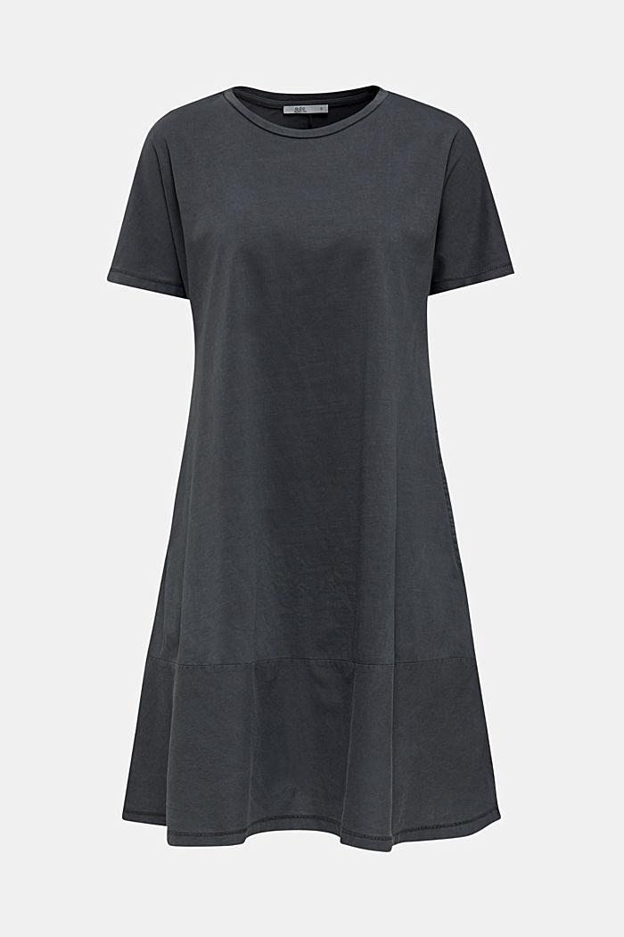 Fabric blend dress with an A-line