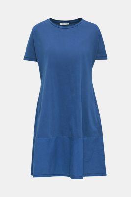 Fabric blend dress with an A-line, INK, detail
