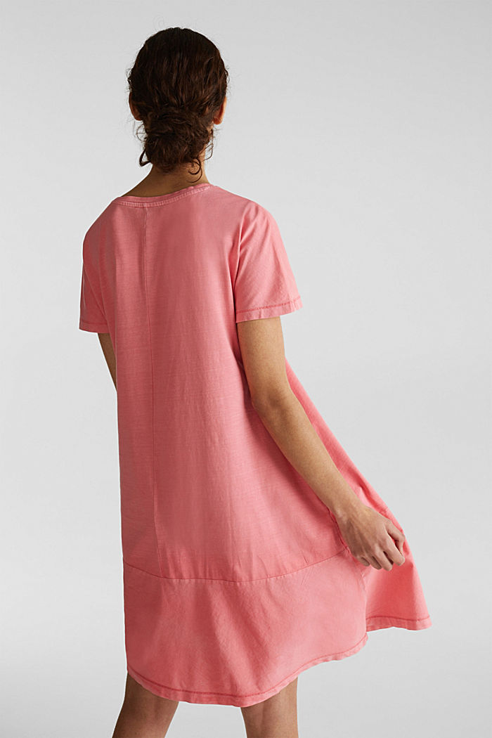 Fabric blend dress with an A-line, CORAL, detail image number 2