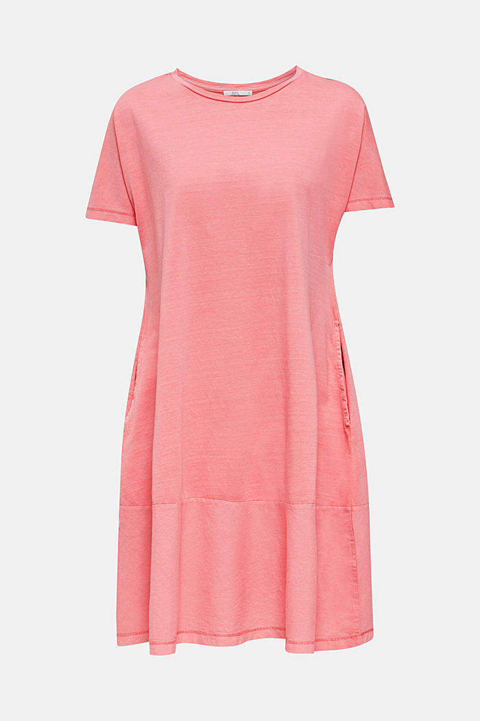 Fabric blend dress with an A-line, CORAL, detail image number 6