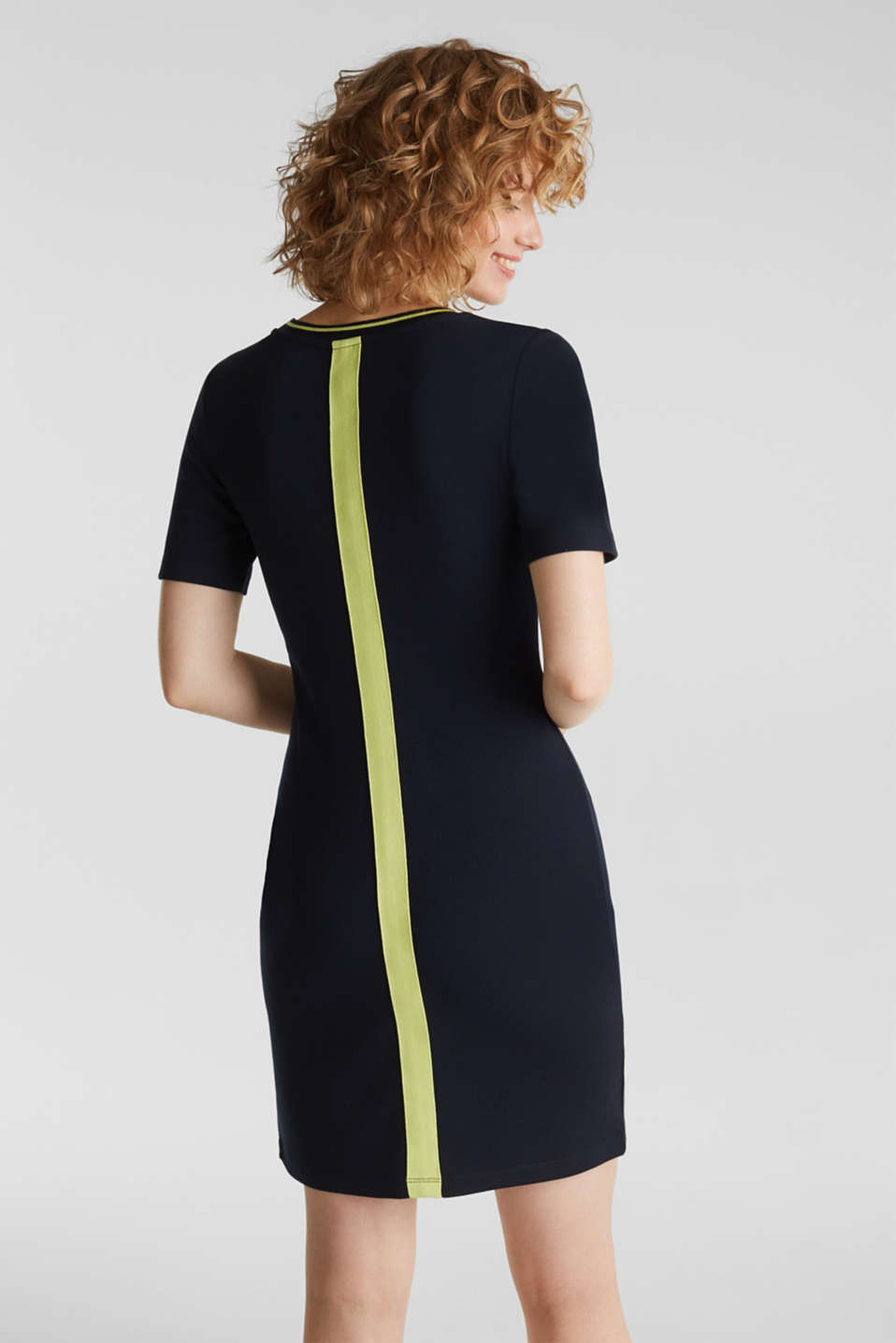 Jersey dress with stripes, NAVY, detail image number 2