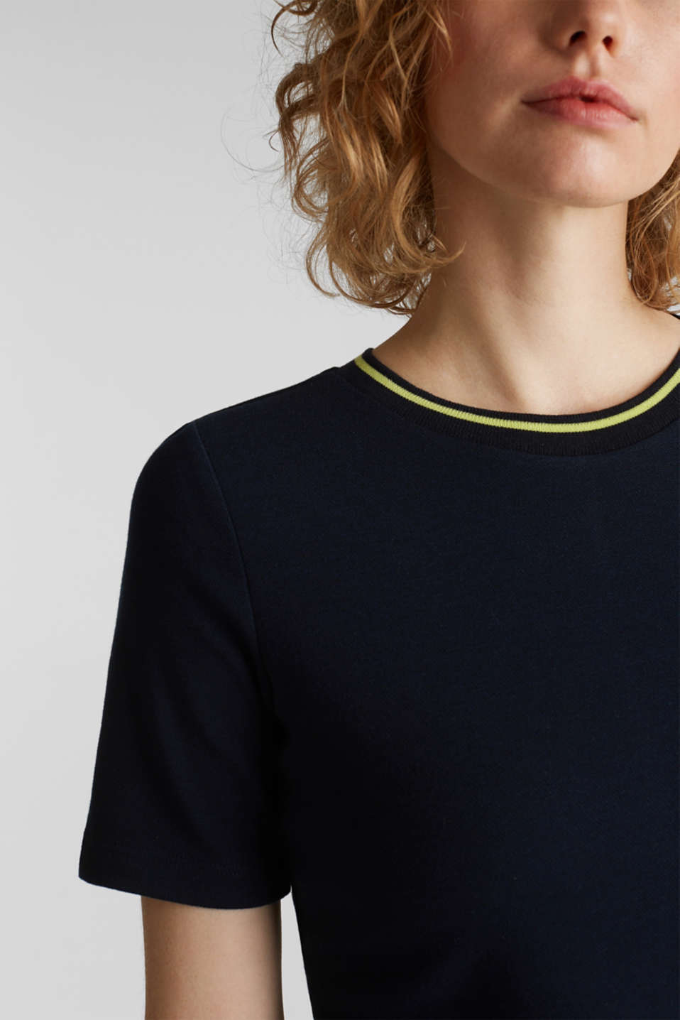Jersey dress with stripes, NAVY, detail image number 3