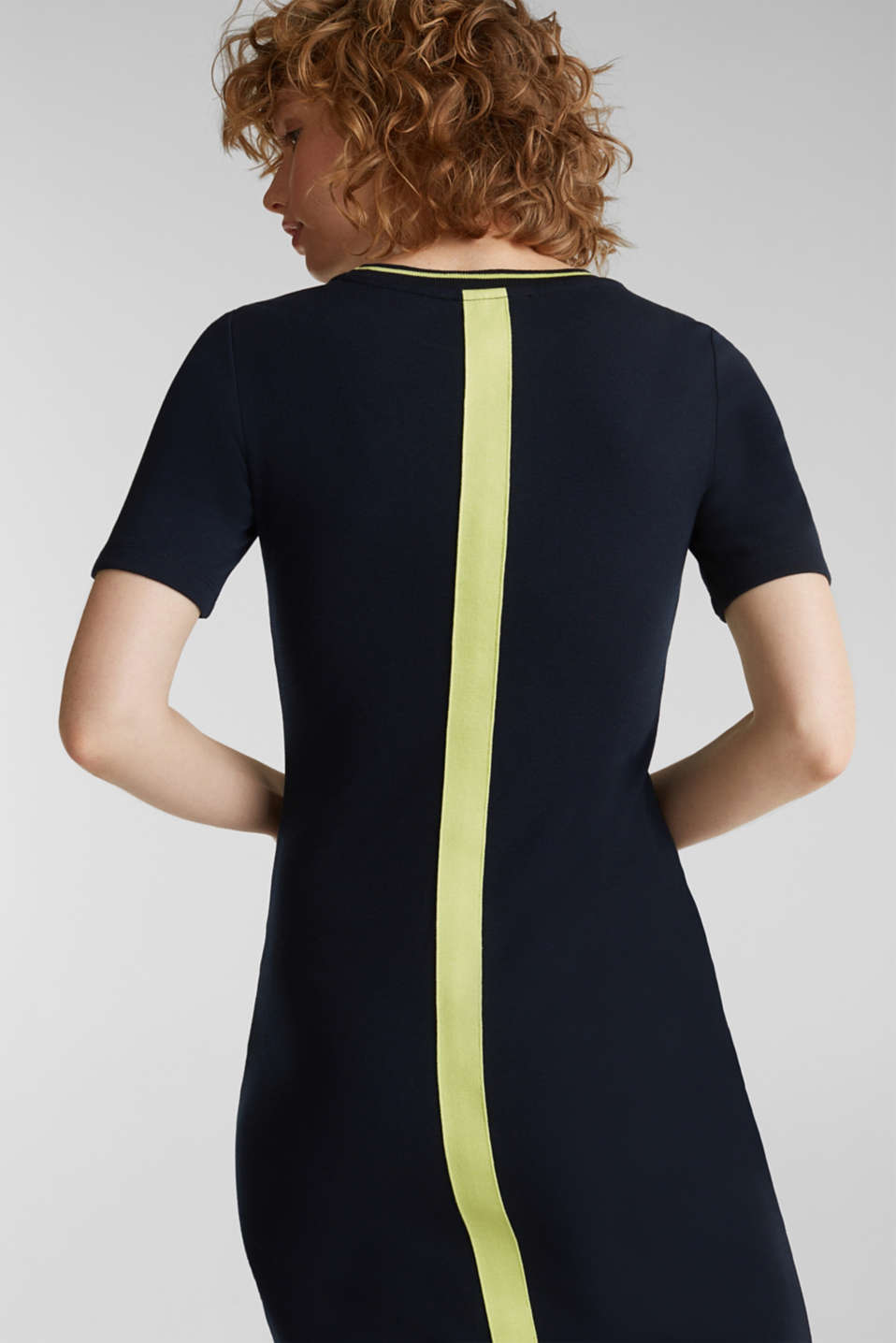 Jersey dress with stripes, NAVY, detail image number 6