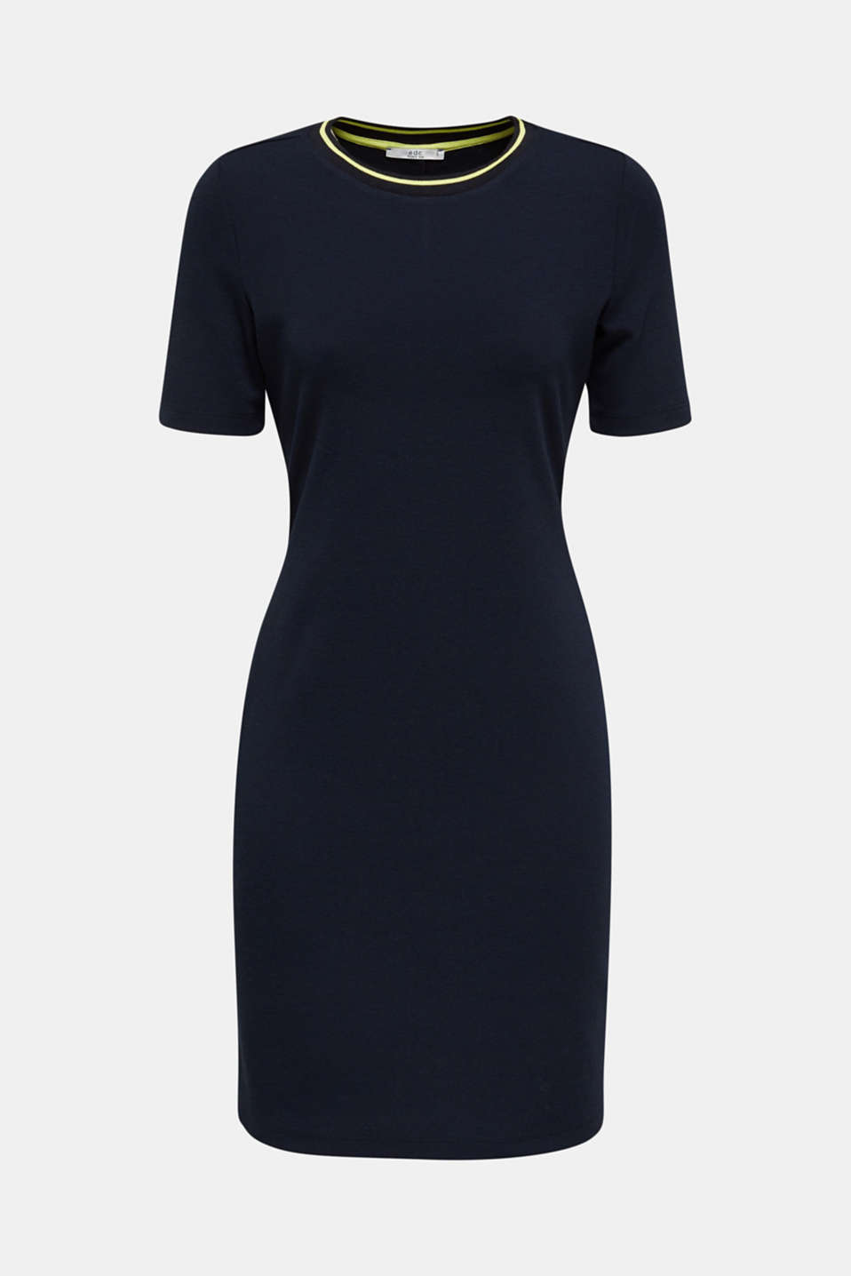 Jersey dress with stripes, NAVY, detail image number 7