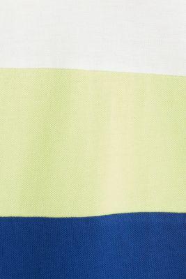 Piqué dress in a colour block style, INK, detail