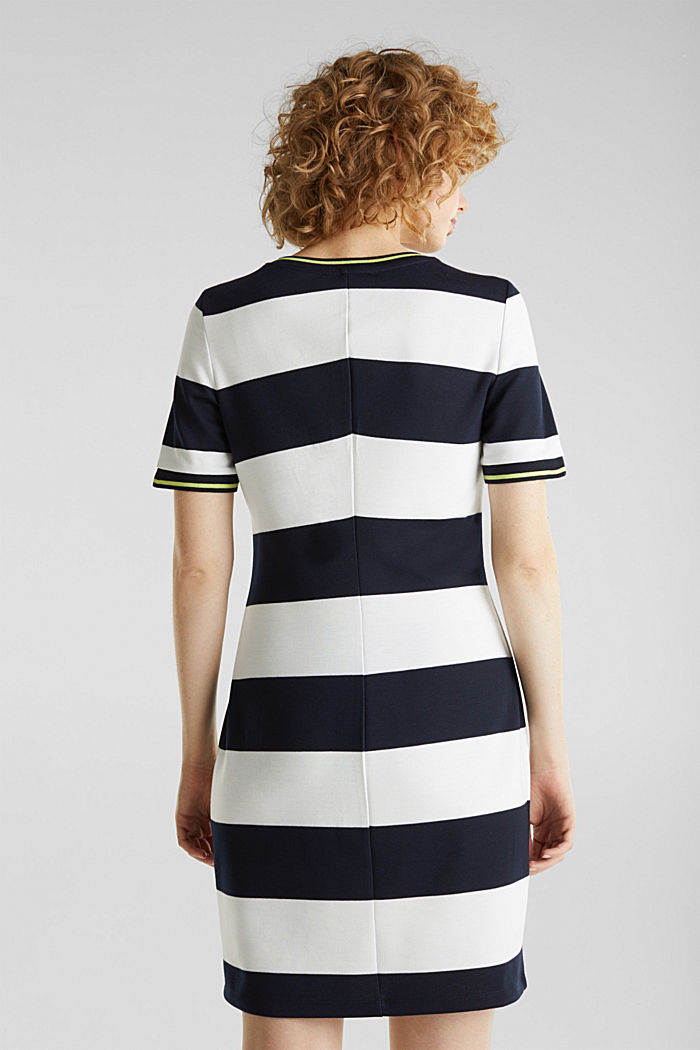 Striped piqué dress, NAVY, detail image number 2